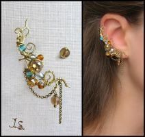 Treasures of the fall ear cuff by JuliaKotreJewelry