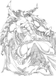 Spawn Lineart by SonicShooter