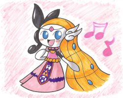 Meloetta with Toon Zelda Clothes by GeminiToad