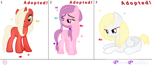 MLP: FiM - Adoptables FREE 5|CLOSED | by PonaPtables