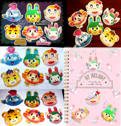 Animal Crossing x Sanrio RV Character Stickers by AltiaStudio