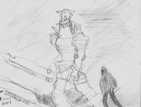 Day 1 Shadow of the Colossus by PeacockChan