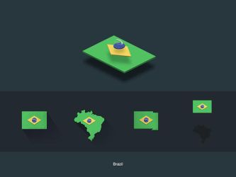 Flat Flags Brazil by capdevil13