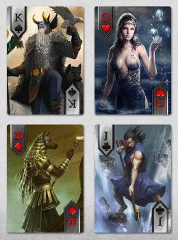 IMMORTAL custom playing cards by TheArtOfSanhueza