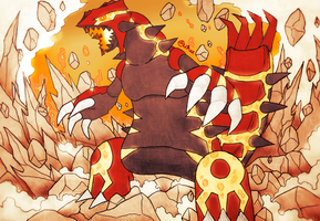Primal Groudon - Precipice Blades by Wraether