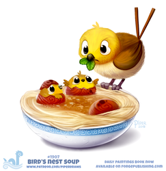 Daily Paint 1907# Birds Nest Soup by Cryptid-Creations