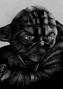 Star Wars- Yoda BW Concept by theRealSEA