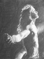 Charcoal light study by Qtfiddler
