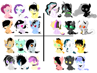 CC Breedables Foals - OPEN (ALL MUST GO) by SavannaEGoth