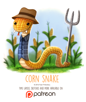 Day 1419. Corn Snake by Cryptid-Creations