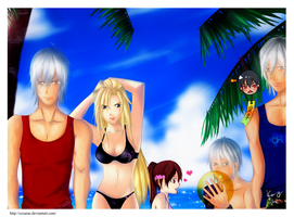 DMC Contest: On the beach by cesarae