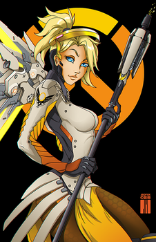 Mercy from Overwatch by artofJEPROX