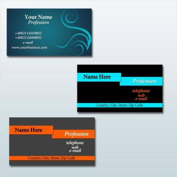 template for business card by Cristian79
