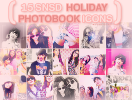 SNSD Holiday Photobook Icons by bunnydubu