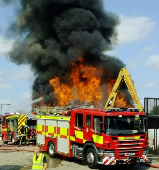 A fire at scrap yard by kirk12Lumiere