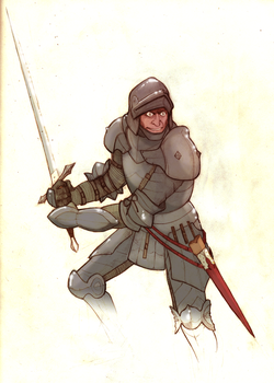 Armoured Knight by AmericanGinseng