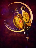 Girl in the Moon by Toefje-Kunst
