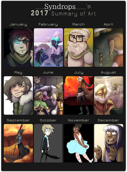 2017 Summary of Art by Syndrops
