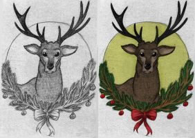 adze vampire. christmas deer by pineapplepidecd92 adze vampire