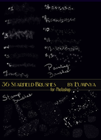 36 Starfield Brushes for Photoshop by Luminya