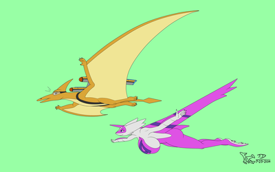 [OLD ART][GIFT] Speedactyl's Busty Encounter by Sabre471