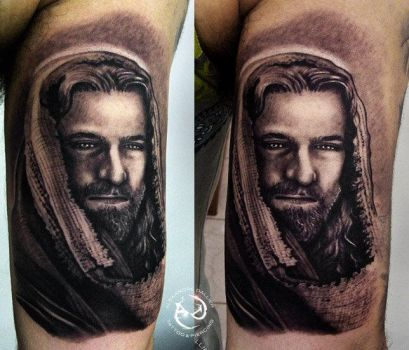 jesus double by DallierTattoo