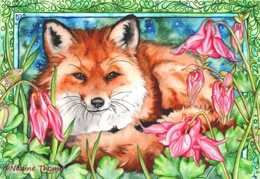Fox Coloring Page by NadineThome