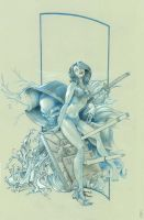 Cover Girl- pencils only by NearMissCoalition