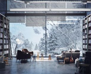 Mountain House winter by pitposum