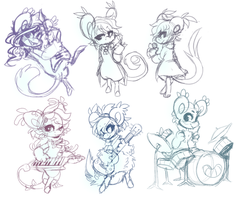 band bean sketches by exitoricanQueen