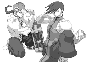 Street Fighter : Yun and Yang by oetaro