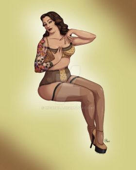 Tattooed Pin Up - Lily (old art) by Mickeyila