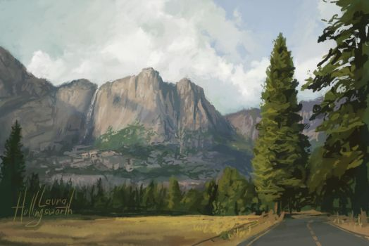 Yosemite Speedpaint 1 by LauraHollingsworth