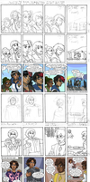 Strip Drawing Process - Leif and Thorn by ErinPtah