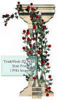 TW3D Rose Vines with post by TW3DSTOCK