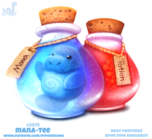 Daily Paint 2019# Mana-tee by Cryptid-Creations