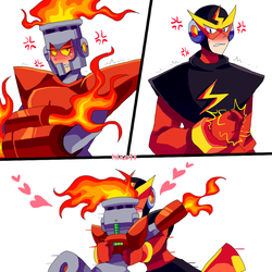 can't get mad with you [Elecman x Fireman] by MVico