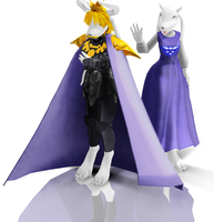 Asgore Dreemur And Toriel MMD Download by yolky206