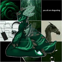Open OTA - slytherin dragon adopt by lunaticjp