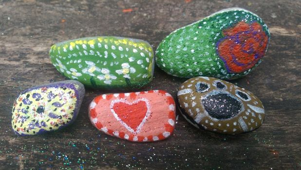 Painted Rocks by InfernoWizard