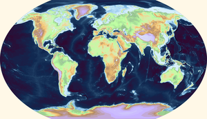 World topography and bathymetry by Ashtagon