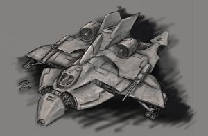 Ship Concept - Assault Var. by ravenofsorrows