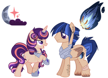 MLP NG Ref Sheet - Tiger Comet + Moonlit Aurora by Nazo-no-Akuma