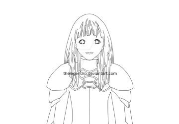Riful Claymore Line Art by thelegendrp
