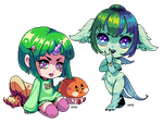 Mint and Aquarius Chibis by Oh-My-Stars