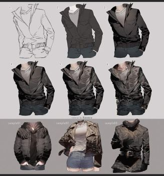 Drawing Leather Jacket by kawacy