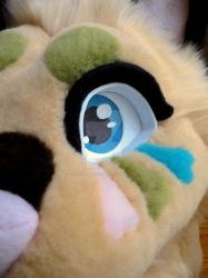 Fossil Feline Partial Teaser Pic by SoulBoundFursuits