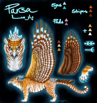 Parsa Reference Sheet by pavocristo