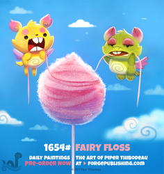 Daily Painting 1654# - Fairy Floss by Cryptid-Creations