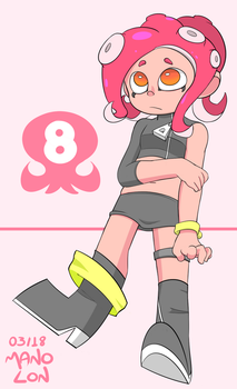Splatoon 2: Agent 8 by Mano-Lon